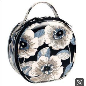 Vera Bradley Hatbox Camellia Cosmetic Travel Case